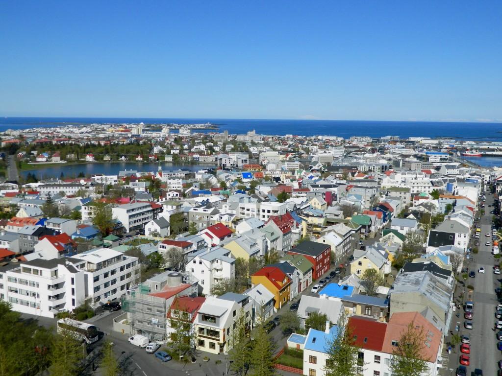 Reykjavik city center as seen from Hallgrímskirkja